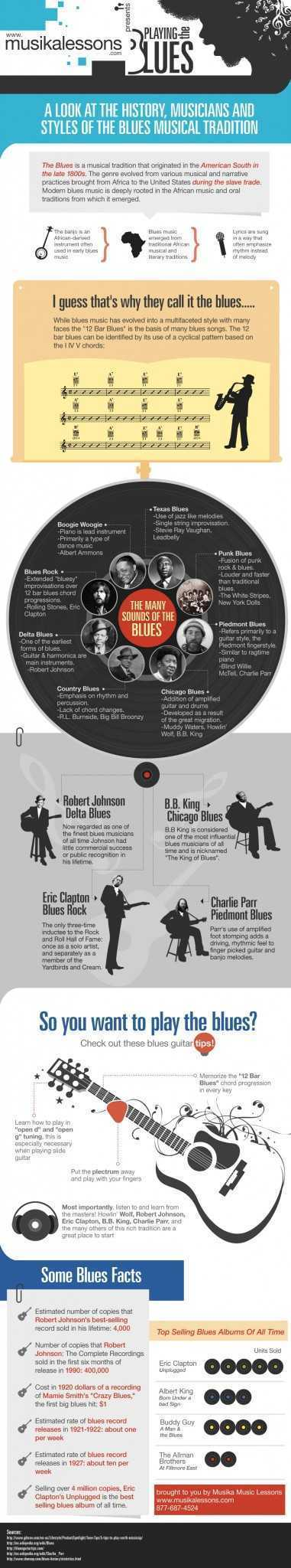 Infographic Playing the Blues Musika Lessons