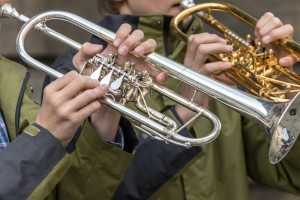 types of trumpets: rotary valves