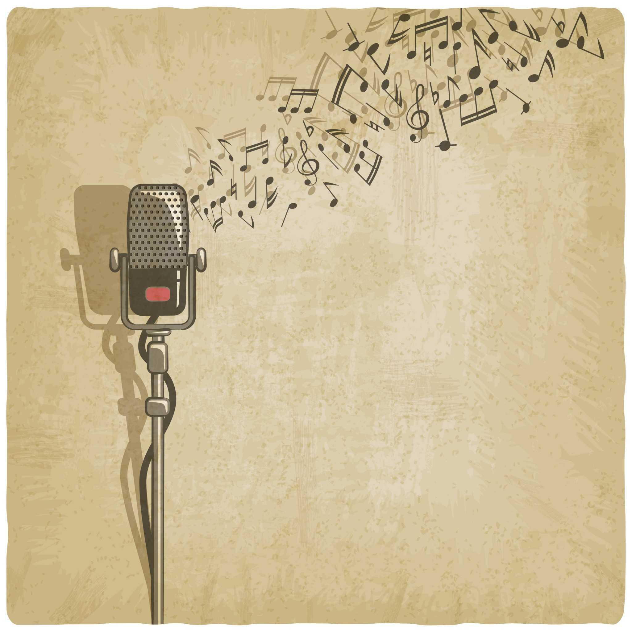 vintage mic music graphic
