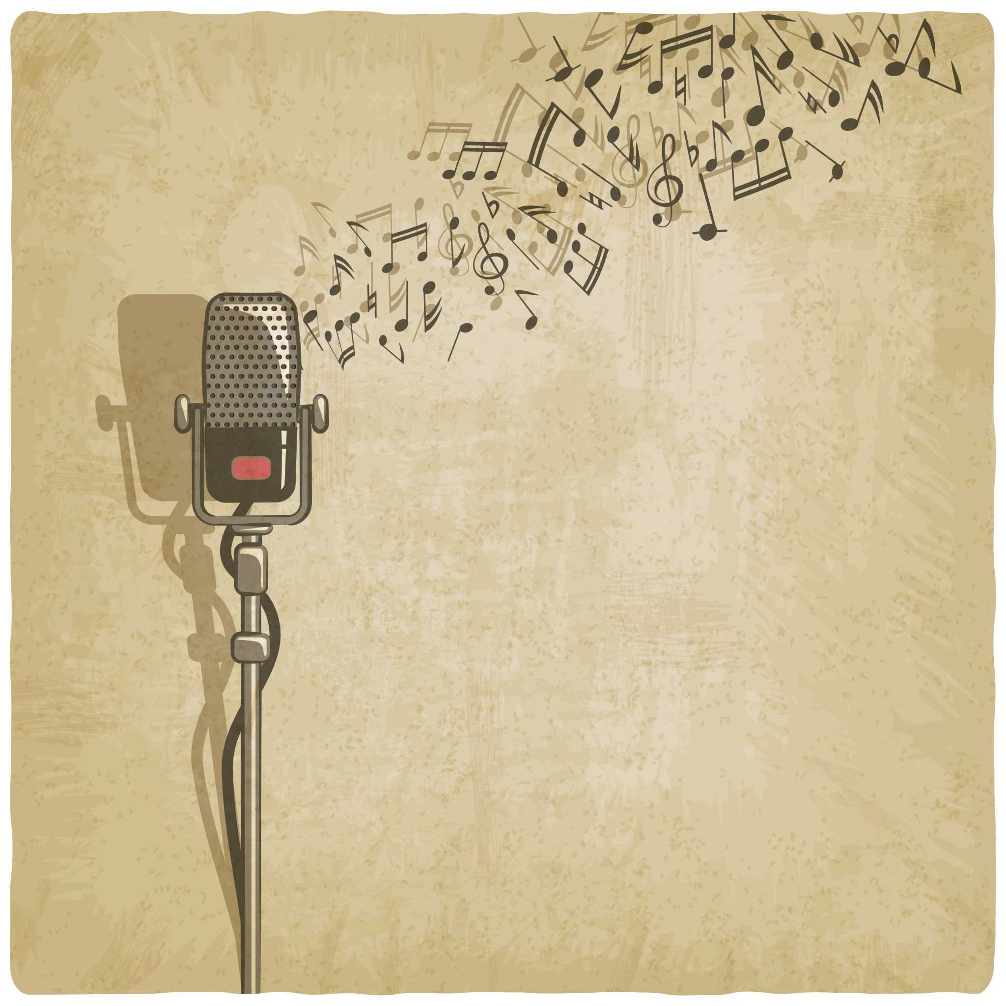 vintage mic music graphic