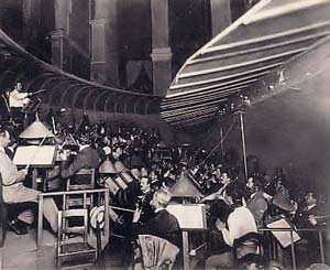 Orchestra Pit at Bayreuth, Wagner's Opera House. The first complete performance of the entire Ring Cycle was performed there between August 13th and August 17th 1876.