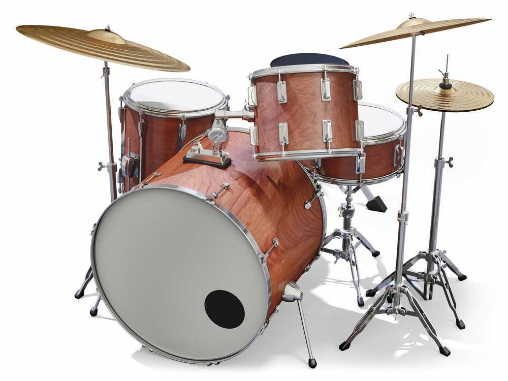 setting up a drum set