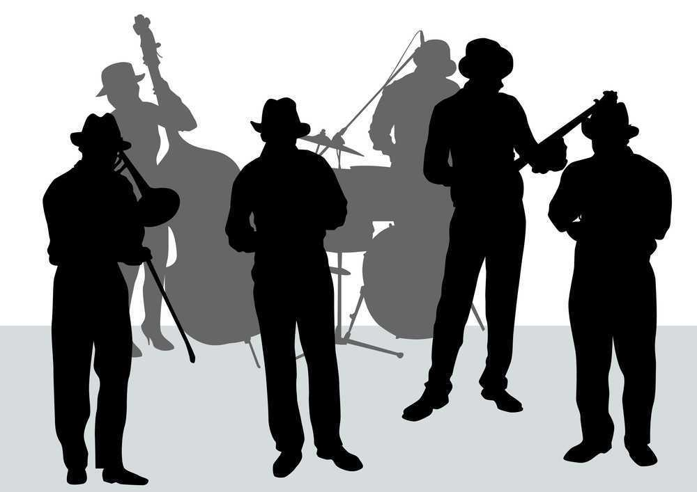 jazz band with bassist