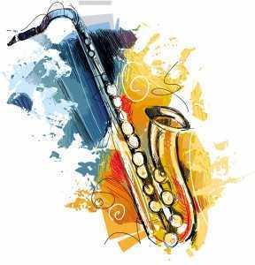 jazzy saxophone graphic