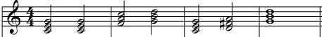 modulation from C to G