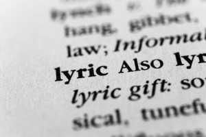 dictionary definition lyric