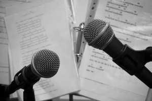 recording a pop song