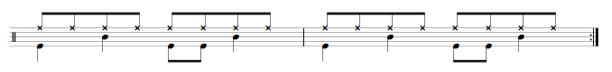 drum beats practice sheet music
