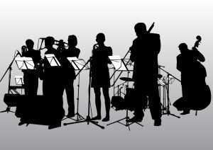 jazz band performing on stage