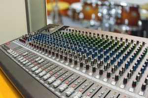 recording studio mixer