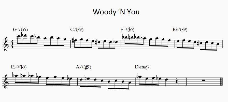 woody 'n you solo