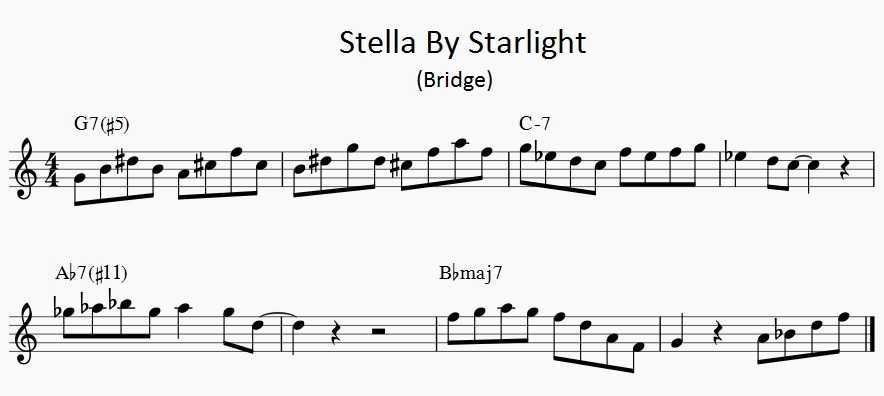 stella by starlight bridge improv example