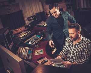 music producer making an album