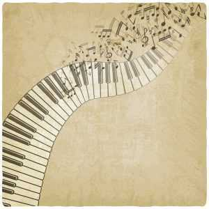 creative piano drawing