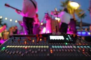 soundboard at live concert