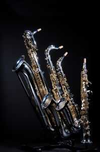 four types of saxophones