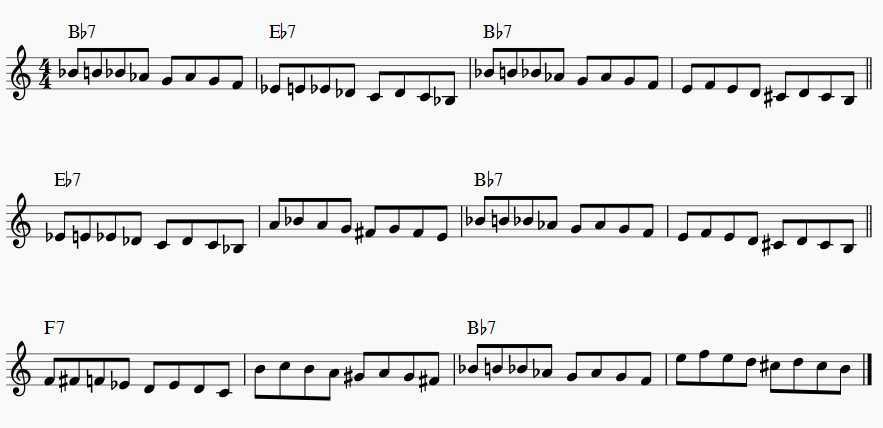 diminished scale blues changes