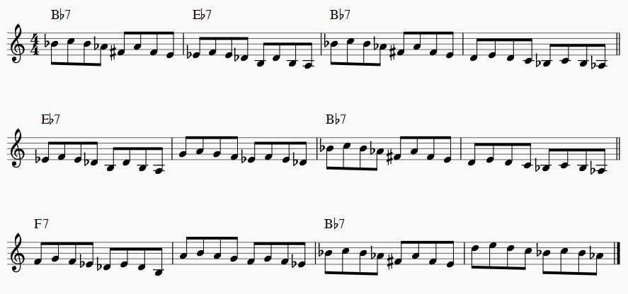 whole tone scale blues changes