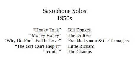 The Saxophone in Pop Music: 1950s to Today