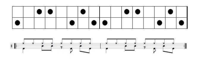 rock drum beat double backbeat