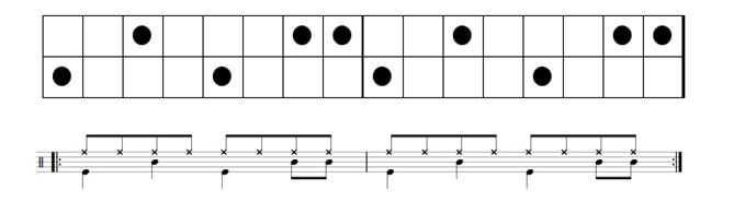 rock drum beats double backbeat music