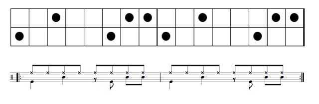drum beat example syncopation music