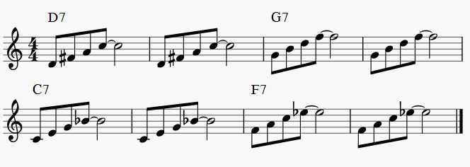 arpeggios over rhythm changes