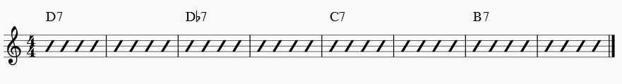 alternate chord progression rhythm changes