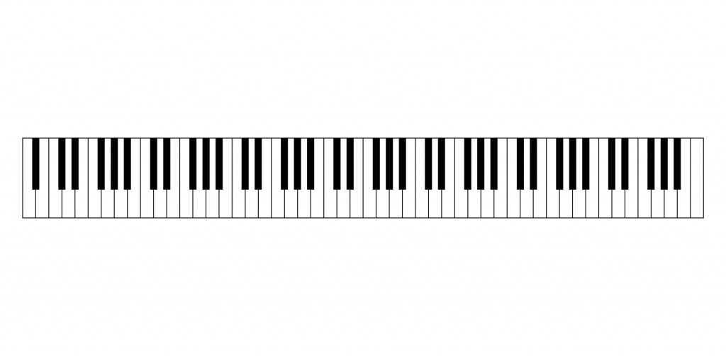isolated vector of piano keys