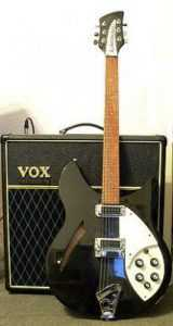 rickenbacker guitar with vox amp