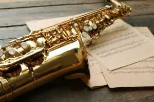 saxophone close up