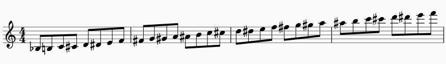 chromatic scale warm-up