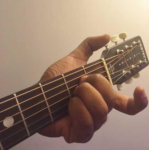 A major guitar chord fret