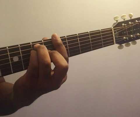 A power chord guitar fret