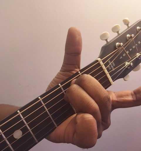 E minor chord guitar fret