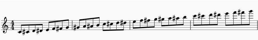 chromatic scale flute