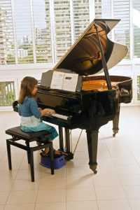 practicing piano technique