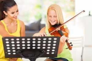 teaching violin in home