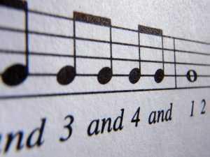 basic rhythm on sheet music