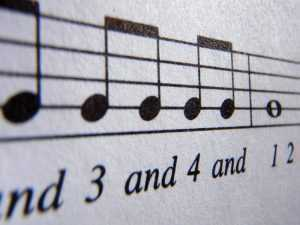 basic rhythm on sheet music