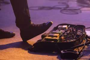 effects pedals on stage