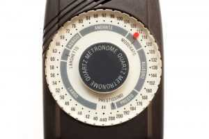 close up of metronome
