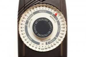 close up of metronome