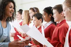choir lesson with children