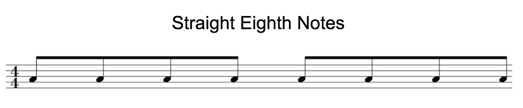 straight 8th notes