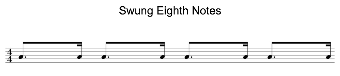 Swung 8th notes