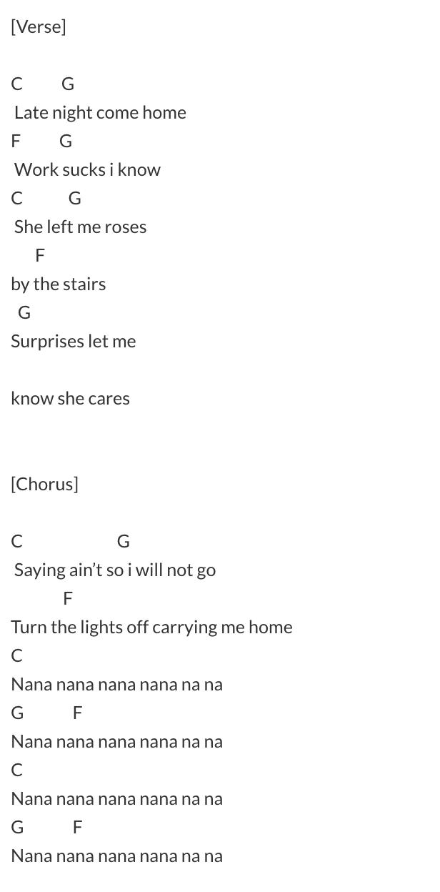 blink lyrics