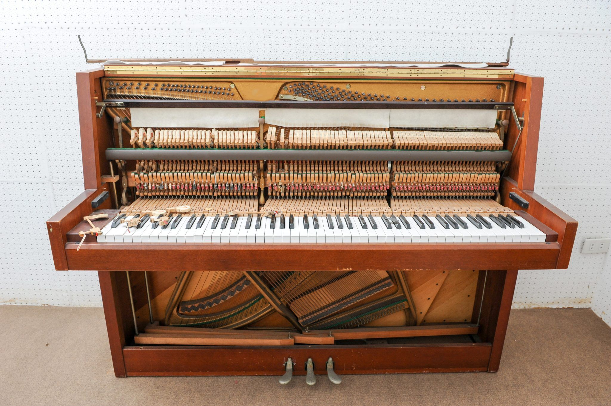interior of piano