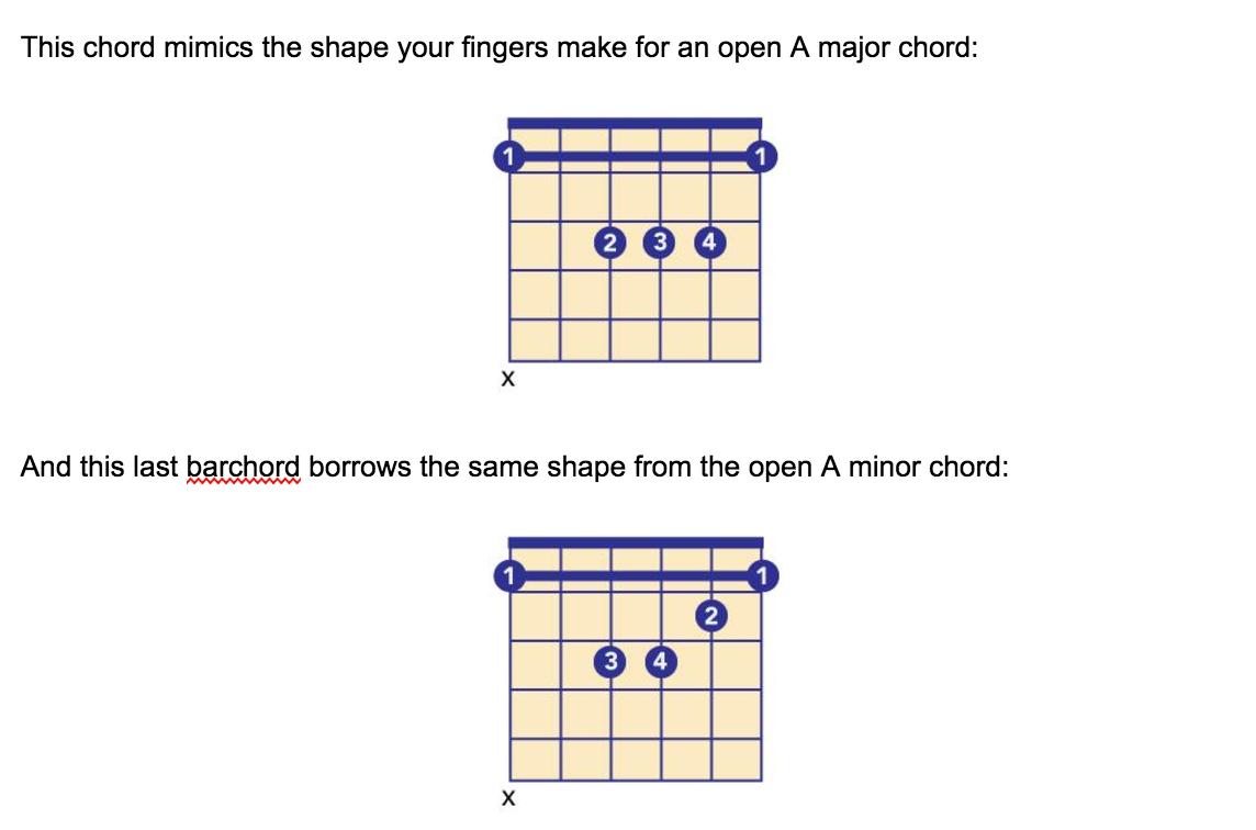 bar chords