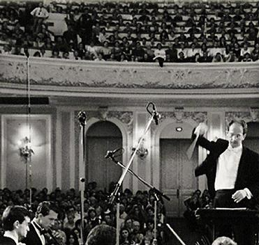 Mr. Brady performing with the Moscow Symphony